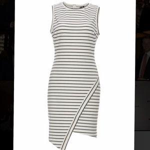 Sleeveless Eliana Asym Knit Ponte Dress